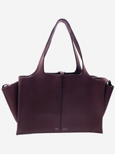 Load image into Gallery viewer, Burgundy Tri-fold large tote bag