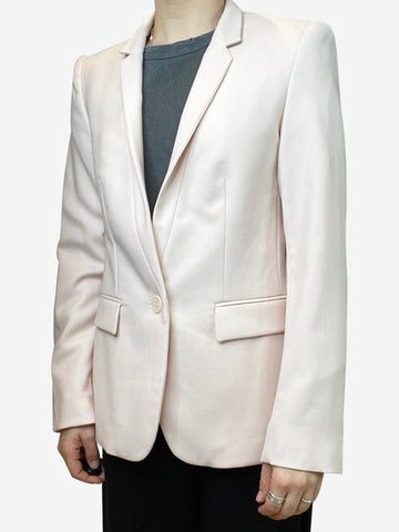 Pale pink single breasted blazer - size IT 42