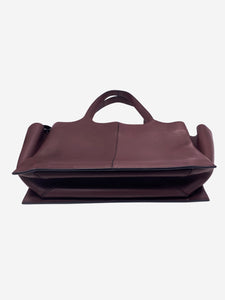 Burgundy Tri-fold large tote bag