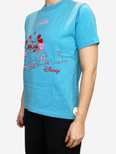 Load image into Gallery viewer, Turqouise logo Mickey Mouse Disney t-shirt - size XXS