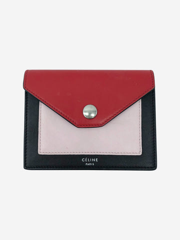 Brown, red & pink envelope coin purse