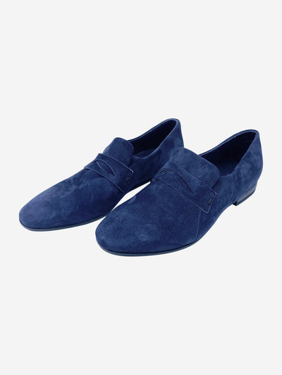 Navy suede loafers- size EU 36.5
