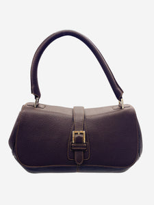 Loewe Brown leather flap and buckle shoulder bag