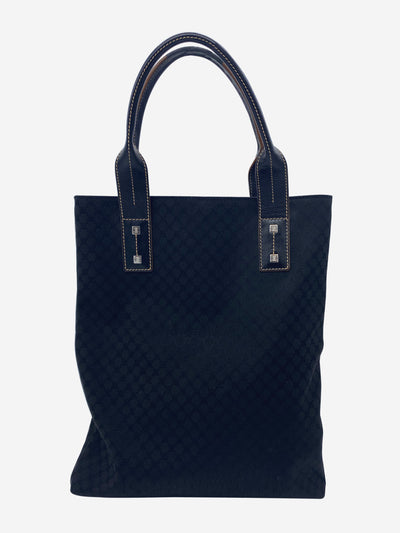 Black Macadam print tote bag