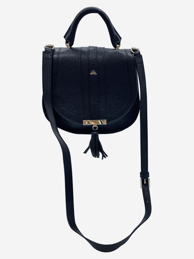 Black midi Venice crossbody bag