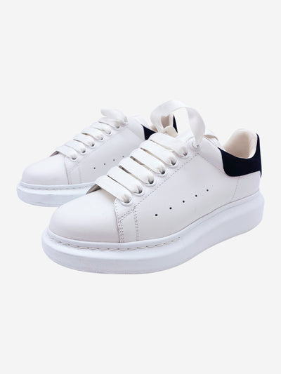 White and black oversized leather trainers - size 37.5