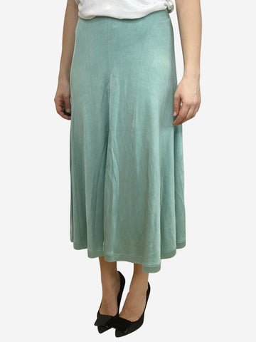 Teal jersey midi skirt - size S