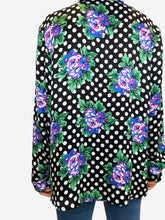 Load image into Gallery viewer, Floral & polka dot pussy blow blouse - size FR 34