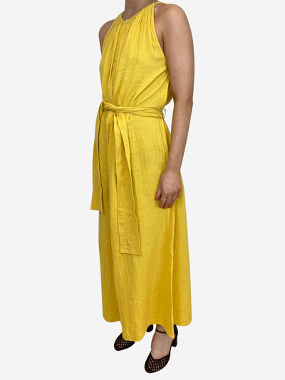 Yellow cotton tie waist jumpsuit - size US 2