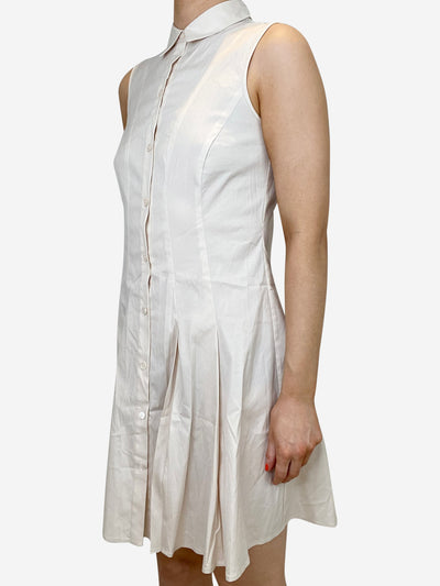 Light beige sleeveless cotton dress - size US 2