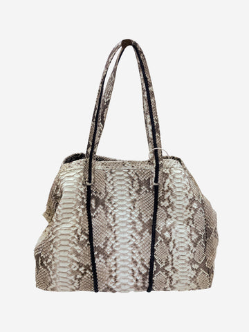 Grey python snake bag with dustbag