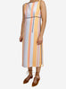 Pale blue and orange striped sleeveless dress - size IT 42