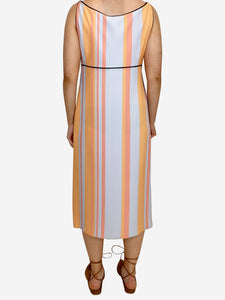 prada pale blue and orange stripe s/less prada dress prada Dresses, 10