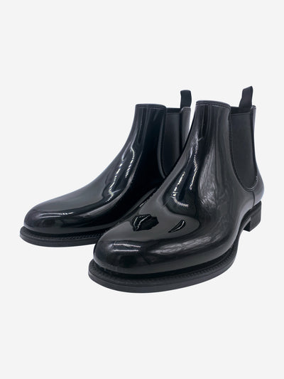 Church's Black short wellingtons - size EU 41(UK 8)
