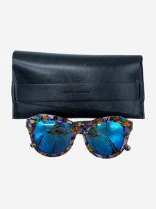 Gentle monster Multicoloured frame sunglasses with blue mirrored lens