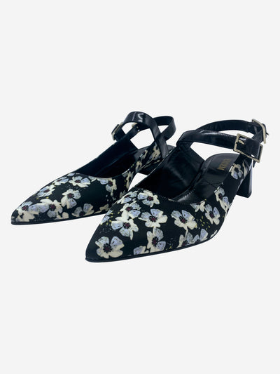 Erdem black open toe - EU 39 (UK 6)
