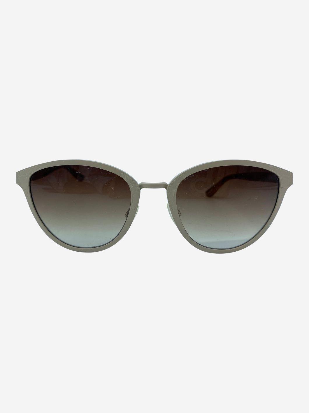 Taupe marble effect sunglasses with brown lens