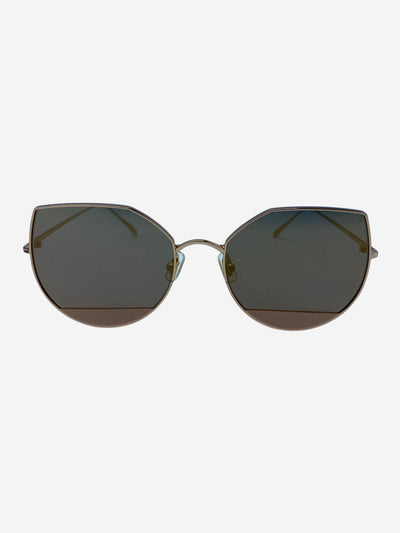 Rose gold cat eye mirrored  sunglasses