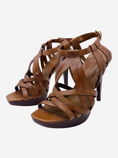 Brown Heeled sandals - size EU 38.5 (UK 5.5)