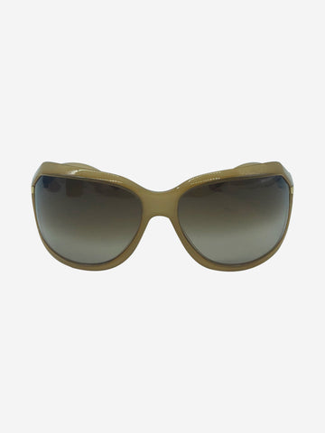 Beige wrap around sunglasses