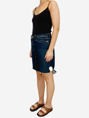 Blue denim midi skirt - 27 waist