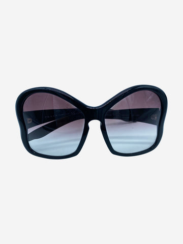 Black SPR181 Butterfly frame oversized sunglasses