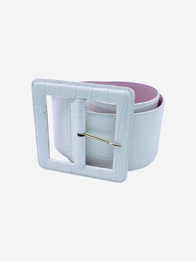White oversized waist belt