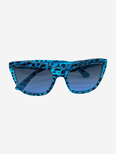 DG4140 Happy Leo turquoise animal print sunglasses