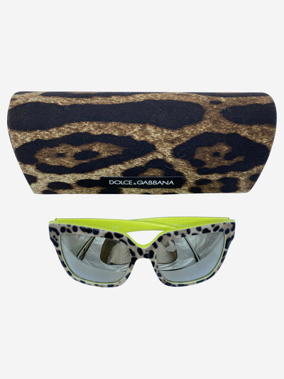 DG3234 square neon & animal print sunglasses