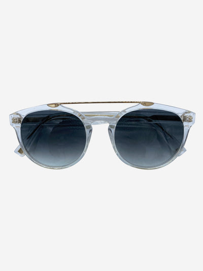 Clear brow bar sunglasses
