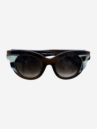 Slutty 2255 brown cat eye sunglasses