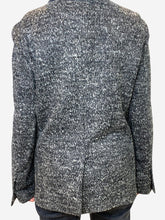 Load image into Gallery viewer, Grey knit blazer - size UK 10