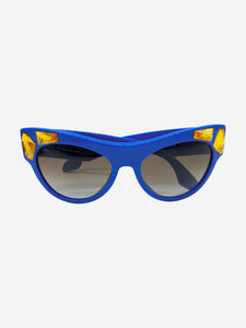 Prada SPR22Q Voice blue & gold jewel sunglasses