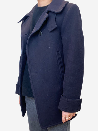 Navy wool short coat - size FR 38