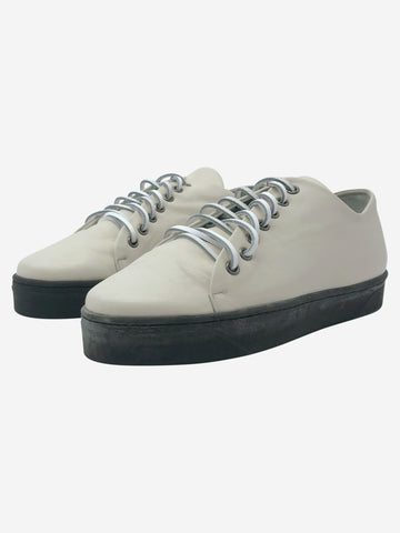 Cream leather trainers - size EU 39