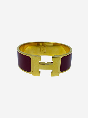 Clic Clac red & gold bangle
