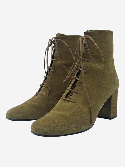 Sand lace up ankle boots - EU 38.5
