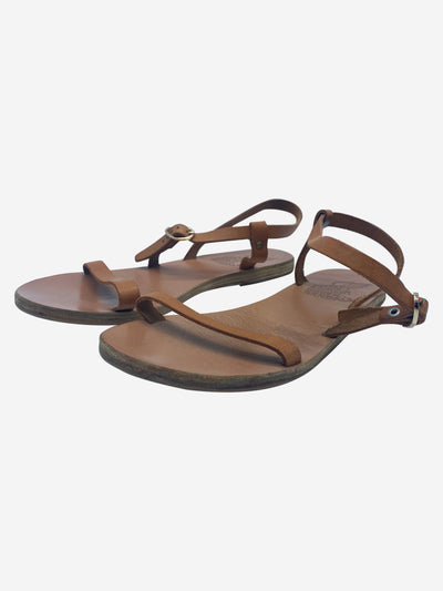 Brown flat strap sandals  - size EU 37