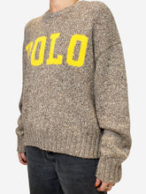 Load image into Gallery viewer, Beige and yellow flecked POLO sweater - size S