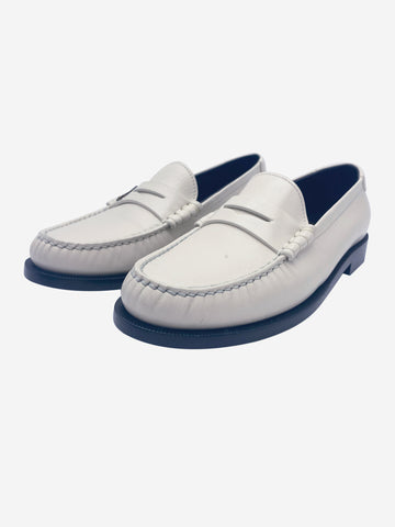 Off white leather loafers - size EU 37