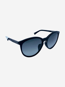 Black Entracte 1 round sunglasses