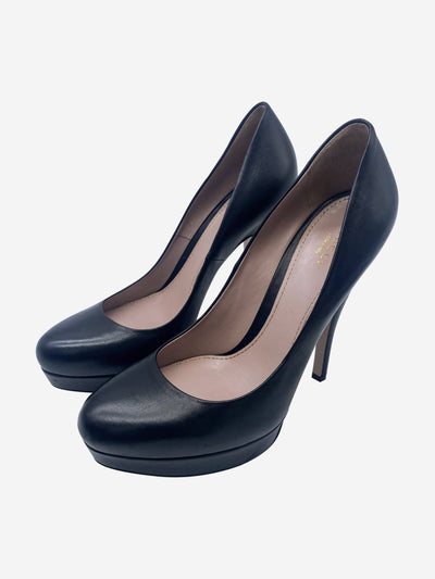 Black leather platform heel - size EU 39