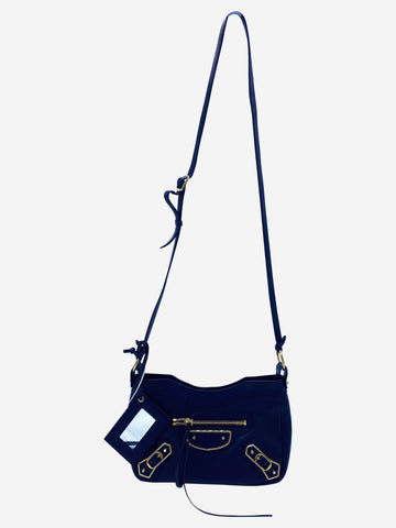 Navy Classic Hip Motorcycle crossbody bag