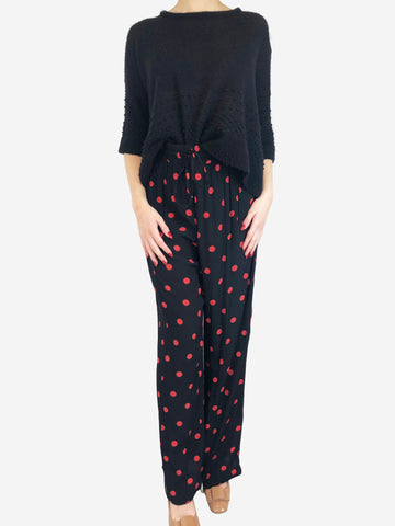Ganni Black Red Polka Dot Trousers Size 10 RRP £150 Ganni - Timpanys