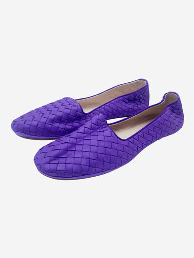 Purple woven leather loafers - size EU 41