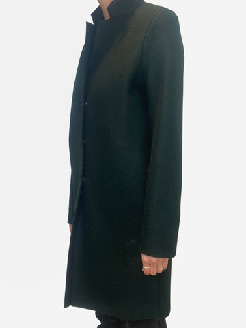 Forest green wool snap button coat - size IT 40