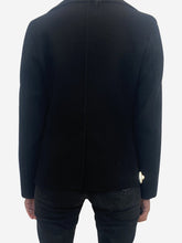 Load image into Gallery viewer, Black long sleeve cashmere jacket - size 8
