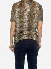 Load image into Gallery viewer, Animal print fine knit t-shirt - size L