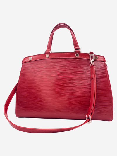 Brea MM red Epi leather top handle bag with shoulder strap