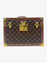 Load image into Gallery viewer, Brown Boite Pharmacie monogram print case